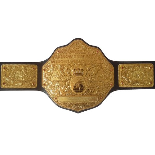 Fandu Belts Real Black Leather Adult Full Gold Big Gold Championship Belt Title 8mm Thick by Fandu Belts