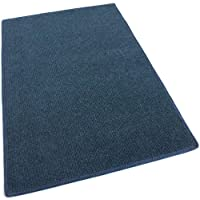 4x12 - DARK BLUE MULTI - Indoor/Outdoor Area Rug Carpet, Runners & Stair Treads with a Light Weight Latex Backing