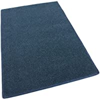 12x6 - DARK BLUE MULTI - Indoor/Outdoor Area Rug Carpet, Runners & Stair Treads with a Light Weight Latex Backing