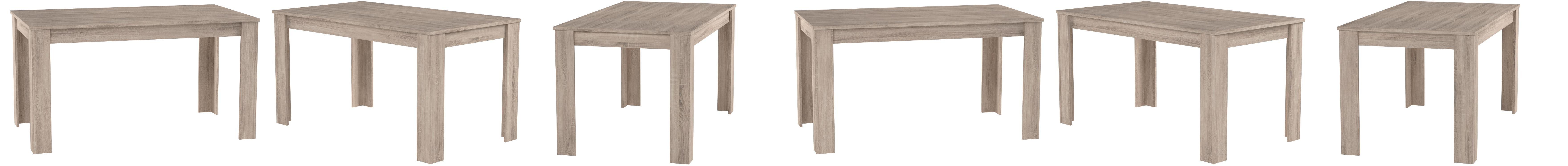 HOMEXPERTS, Tisch NICK, Moderner Esstisch 10 cm, Küchentisch aus ...