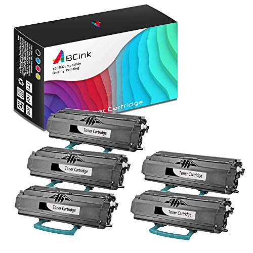 - ABCink Compatible Toner Cartridge Replacements for Lexmark 23800SW 23820SW,for use in Lexmark E238,6000 Yields(5 Pack,Black)