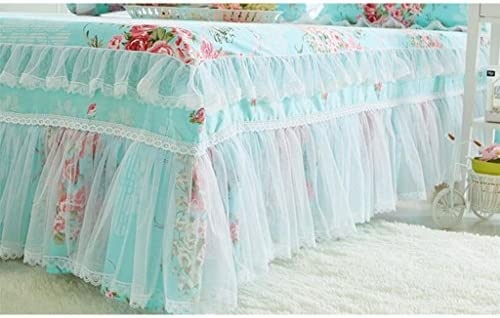 Xuan - Worth Having Pink Flower Pattern Coton Coton Lit Jupe Single Piece Style coréen Home Bed Sheets (Taille : 120 * 200cm)