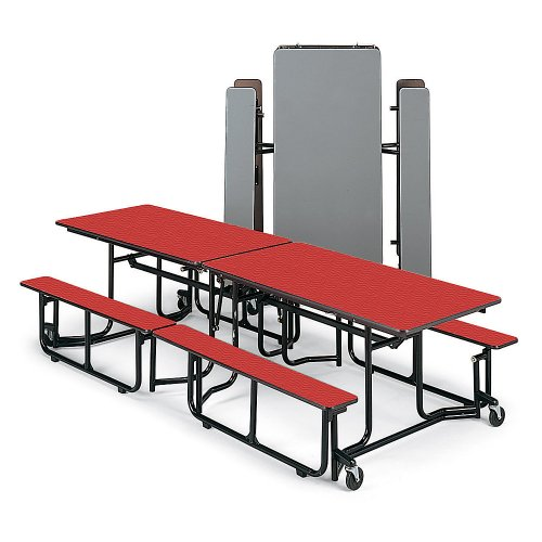 KI Folding Tables with Benches - Warm ()