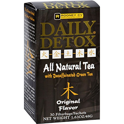 Cheap Rooney CV Daily Detox All Natural Decaffeinated Tea Original – 30 Sachet