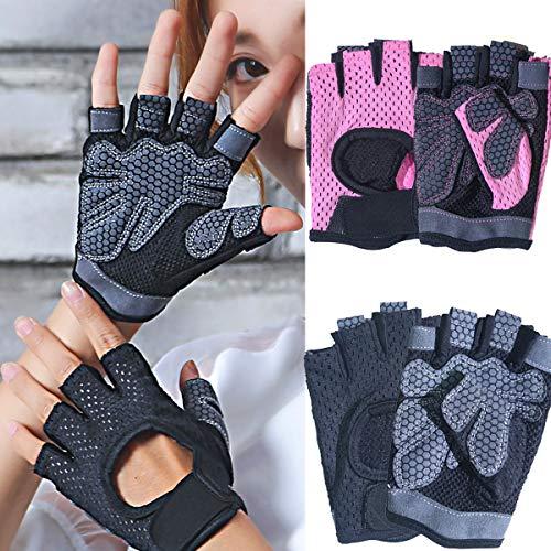 dancepandas Gym Handschoenen Vrouwen Gewichtheffen 4 Stks Gym Workout Handschoenen Gym Handschoenen Pols Ondersteuning…