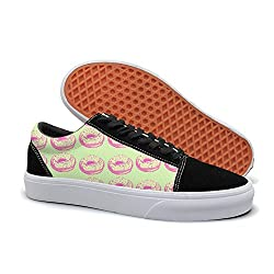 Pdaqs I Donut Care Cute Doughnut Green Women Canvas Shoes Oldskoo Training Shoes Low Top