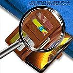TheGiftKart Genuine Leather Finish iQOO 7 5G Flip Back Cover | Inbuilt Pockets & Stand | Wallet Style | Designer Button…