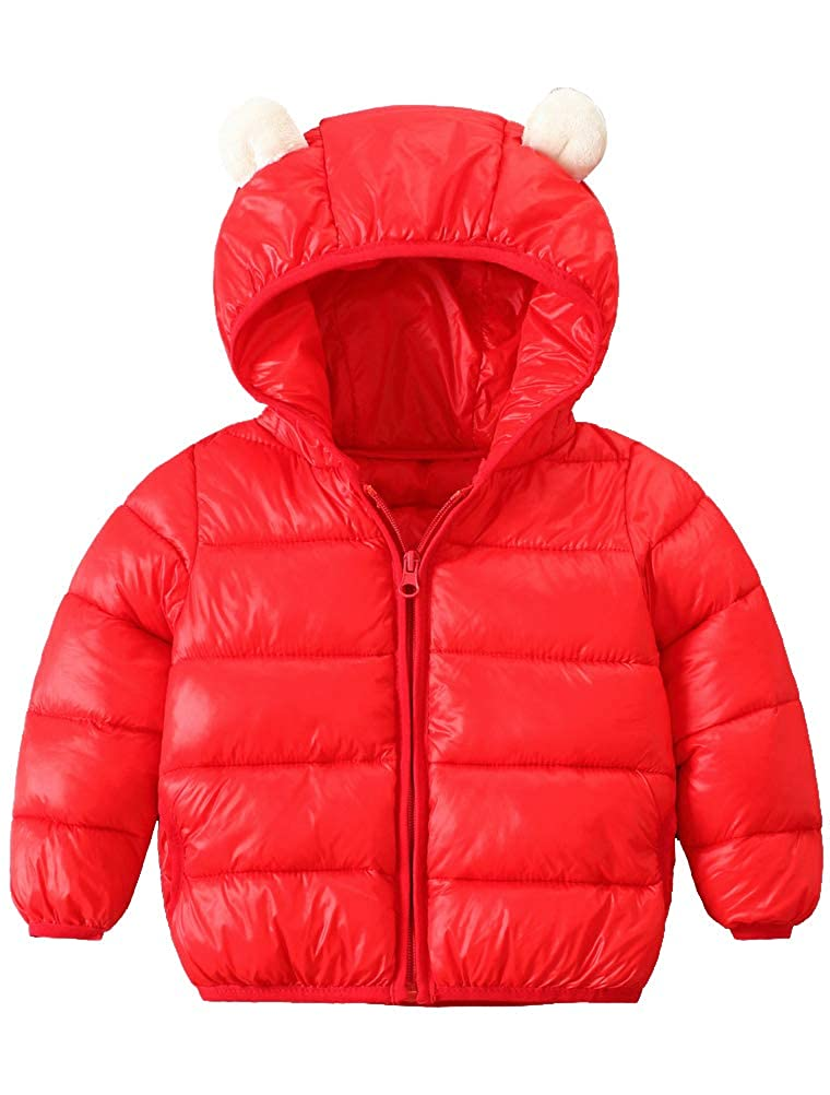 ARAUS Hooded Jacket Baby Girl Boy Cute Rabbit Ear Coat Winter Warm Clothes for Kids 0-4 Years 7010P10