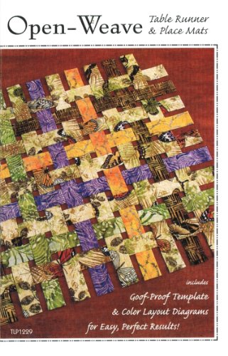 Open-Weave Pattern No. TLP1229 by Tiger Lily Press Table Runner and Place Mats Goof Proof Templates