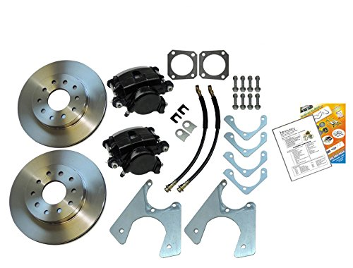 Compatible With 1964-1977 GM 10 12 Bolt Rear Axle End Disc Brake Conversion Kit Set Std ROTORS