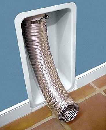 dryerbox rb-500 Metal retro-fit receptáculo a casa secadores Flex manguera, color blanco: Amazon.es: Bricolaje y herramientas