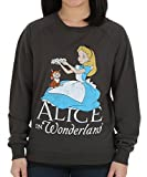 Womens Alice in Wonderland Alice Flower Crown Pullover Large