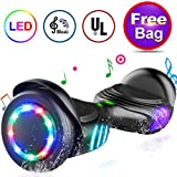 "TOMOLOO Hoverboard with Speaker and Colorful LED Lights Self-Balancing Scooter UL2272 Certified 6.5"" Wheel for Adults and Child"