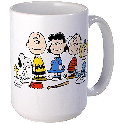 CafePress - The Peanuts Gang Large Mug - Coffee Mug, Large 15 oz. White Coffee Cup (Peanuts Cup Coffee Gang)