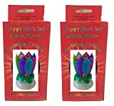 Neat Birthday Candle Exciting Birthday Candle 2 Pack (Rainbow and Rainbow)