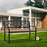 Garden Bench for Patio Outdoor Bench Metal Bench