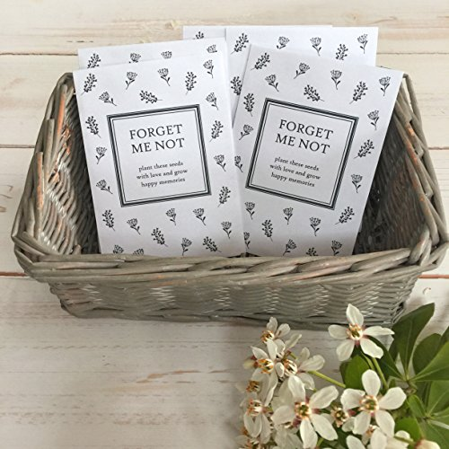 25 Unfilled Forget Me Not Seed Packet Funeral Favor Envelopes - by Angel & Dove by ANGEL & DOVE (Image #1)