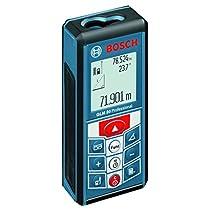 Bosch GLM 80 Professional - Medidor láser de distancias, alcance 80 m, protección IP 54, batería 1250 mAh, 3.7 V, color negro y azul