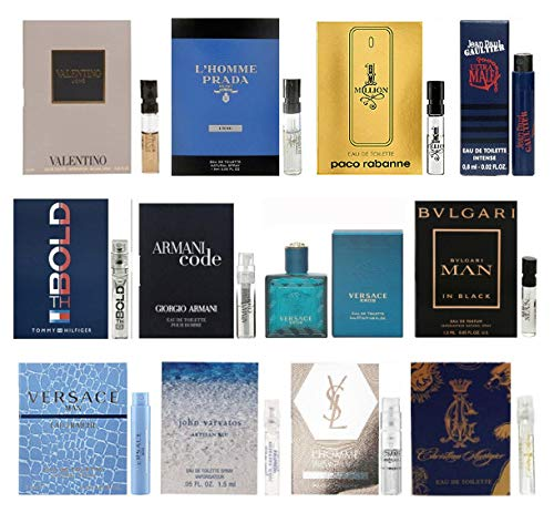 - 12 Men's Cologne Samples Vials & Miniature Set Tom Ford, Yves Saint Laurent