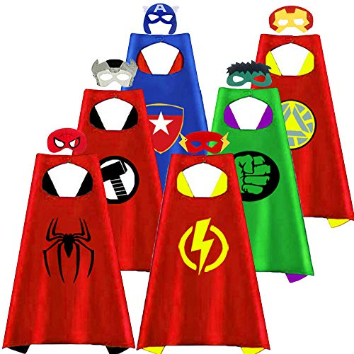 Outdoor Toys for Toddlers Age 3-5 - Party Favor for Kids, Treasure Store Superhero Dress up Costumes Toys for 3-7 Year Old Boys Gifts for 3-7 Year Old Boys Girls Toddlers Costumes Party Supplies 6 Pcs]()