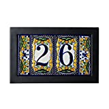 tile address numbers - Contemporary Address Plaque Size: 3 Tile