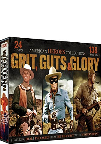 Heroes Collection: Grit, Guts & Glory 24 DVD Set: McLintock! - Angel and the Badman - The Lone Ranger - Gung Ho! - The Cisco Kid - My Pal Trigger - Oakley Badman