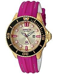 Invicta Women's Pro Diver Purple/Gold Silicone Watch