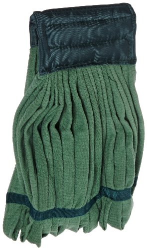 Impact LF0005 Microfiber Tube Wet Mop with Canvas Headband, Medium, Green (Case of 12) by Impact Products