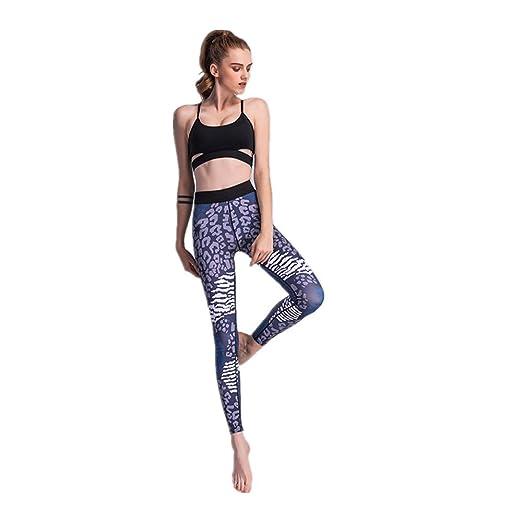 Zgsjbmh Pantalones de Yoga Leopard Thin Transpirable ...