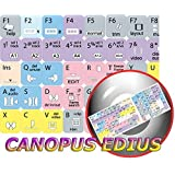 NEW CANOPUS EDIUS KEYBOARD STICKERS FOR DESKTOP, LAPTOP AND NOTEBOOK by 4KEYBOARD