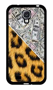 Money and Cheetah Print - Phone Case Back Cover (Galaxy S4 - Plastic)
