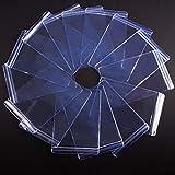 PH PandaHall 50pcsTransparent PVC Zipper Bags