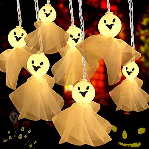Decorazioni di Halloween di Luci Stringa, 4.5 m 30 LED Luci della stringa di Halloween all'aperto, Decorazioni di Halloween Funziona a Batteria, Giardino, Interni, Portico, Esterna