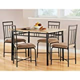 Transitional 5 Piece Dining Set