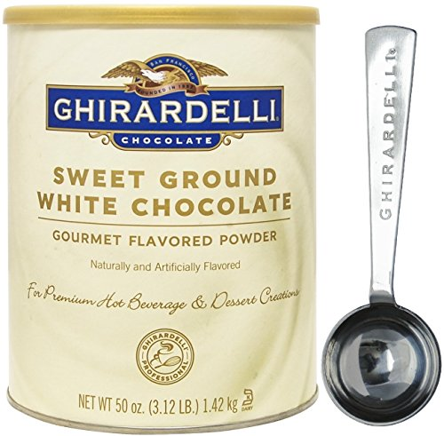 Ground White Chocolate Gourmet Flavored Powder 3.12 lb - with Exclusive Measuring Spoon (Sweet Ground White Chocolate)