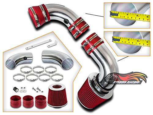 Black Red Cold Air Intake Kit /& Filter For 1996-2005 GMC Jimmy 4.3L V6