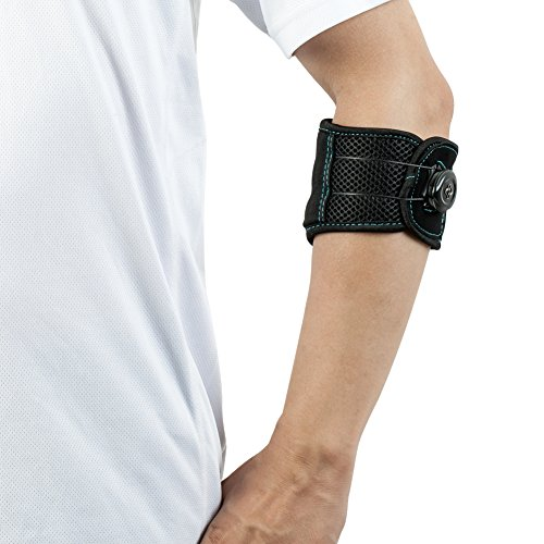 Elbow Strap Compression Brace, Tennis & Golfer's Elbow Pain Relief with Adjustable BOA Closure System for Both Men and ()