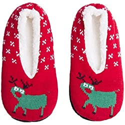 Holiday Indoor Shoes Outdoor Lined Slippers Socks Slip-on Non Skid