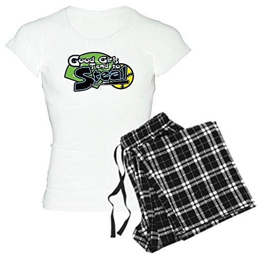 Good Girls Steal - Womens Novelty Cotton Pajama Set, Comfortable PJ Sleepwear ()