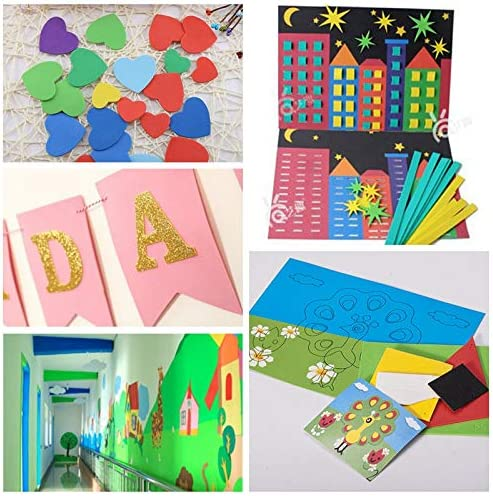 Red 1 Sheets 50x50cm Sponge Paper 1mm Handmade Craft Paper EVA DIY Crafts Materials Cut Foam Paper