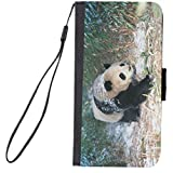 Rikki Knight Premium PU Wallet Flip Case with Kickstand and Magnetic Flap for iPhone 7 PLUS - Panda Bear in Snow Design