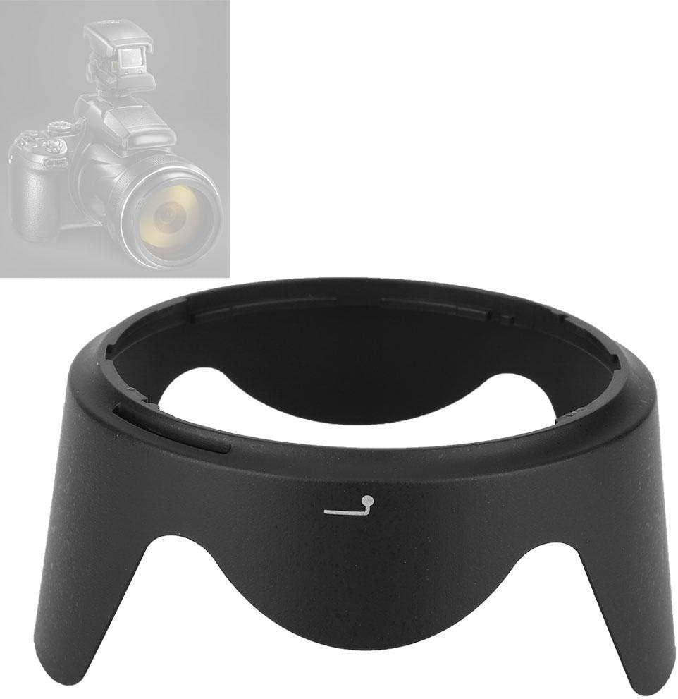 Quality Plastic Camera Lens Hood Shade for Nikon AF-S DX 18-200mm f // 3.5-5.6G ED VR Photography Lens Accessories Black Bewinner HB-35 Lens Hood