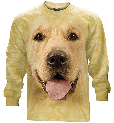 The Mountain Adult Long Sleeve T-Shirt - Big Face Golden