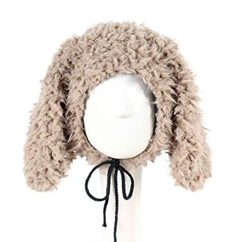 Aviator Khaki (YABINA Kids Girls Boys Winter Hat Faux Fur Puppy Skull Caps (Khaki))