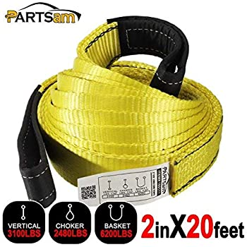 PROGRIP 152020 Medium Duty Tow and Recovery Strap with Flat Webbing and Reinforced Loop 20 x 2 20,000 lbs MBS