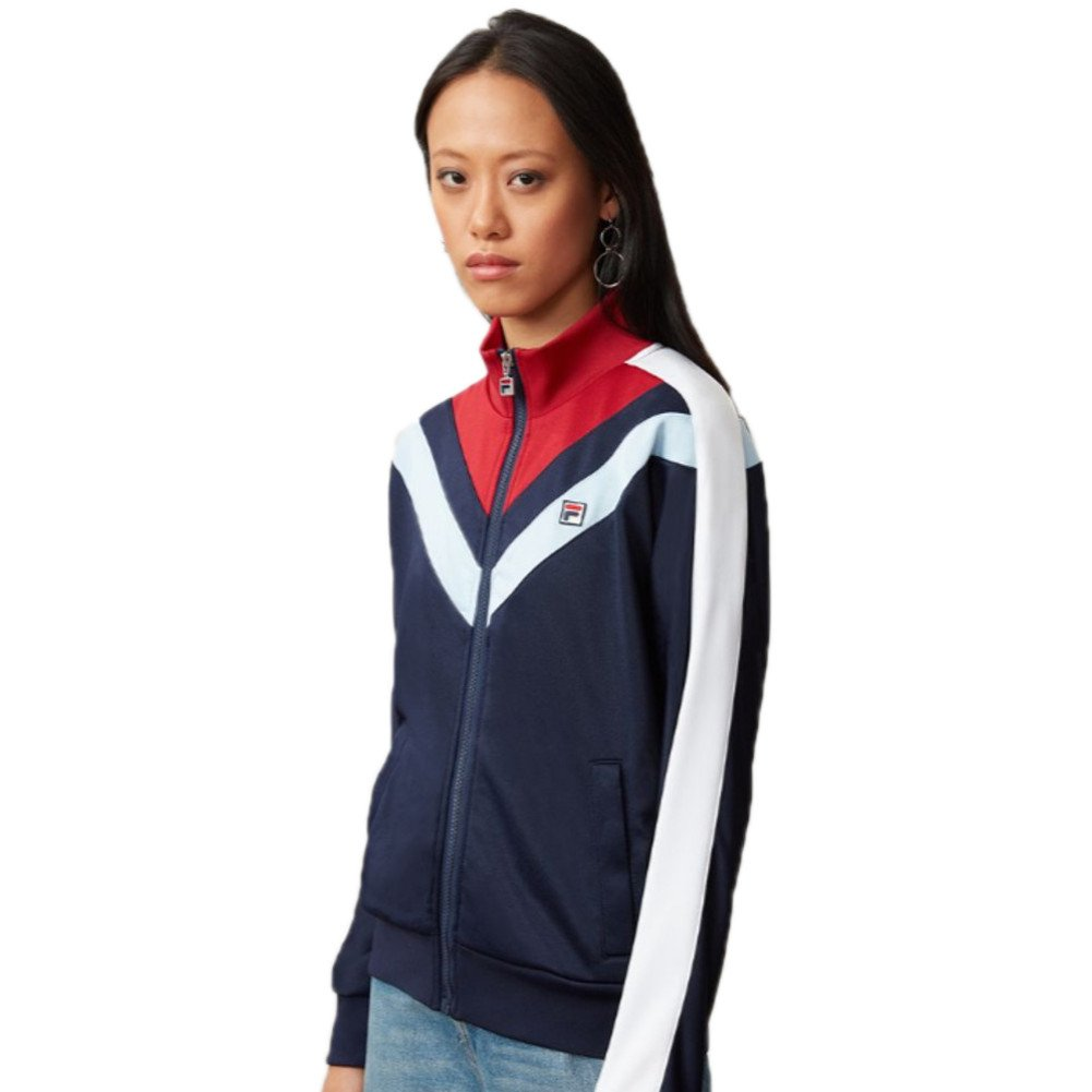abf9d88091203 Amazon.com: Fila Women's Faith Track Jacket, Navy, Rio Red, Skyway, XS:  Clothing