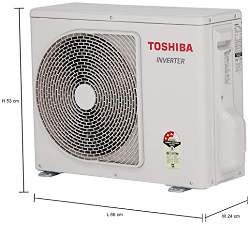 TOSHIBA 1 Ton 3 Star Inverter Split AC (Copper, RAS-13BKCV-IN+RAS-13BACV-IN, Gloss White)