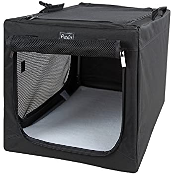 Amazon.com : Collapsible Foldable Dog Crate, Indoor & Outdoor Soft ...