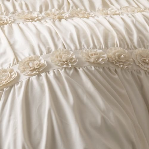 Luxurious Comforter Set Ruffles French Country Queen King