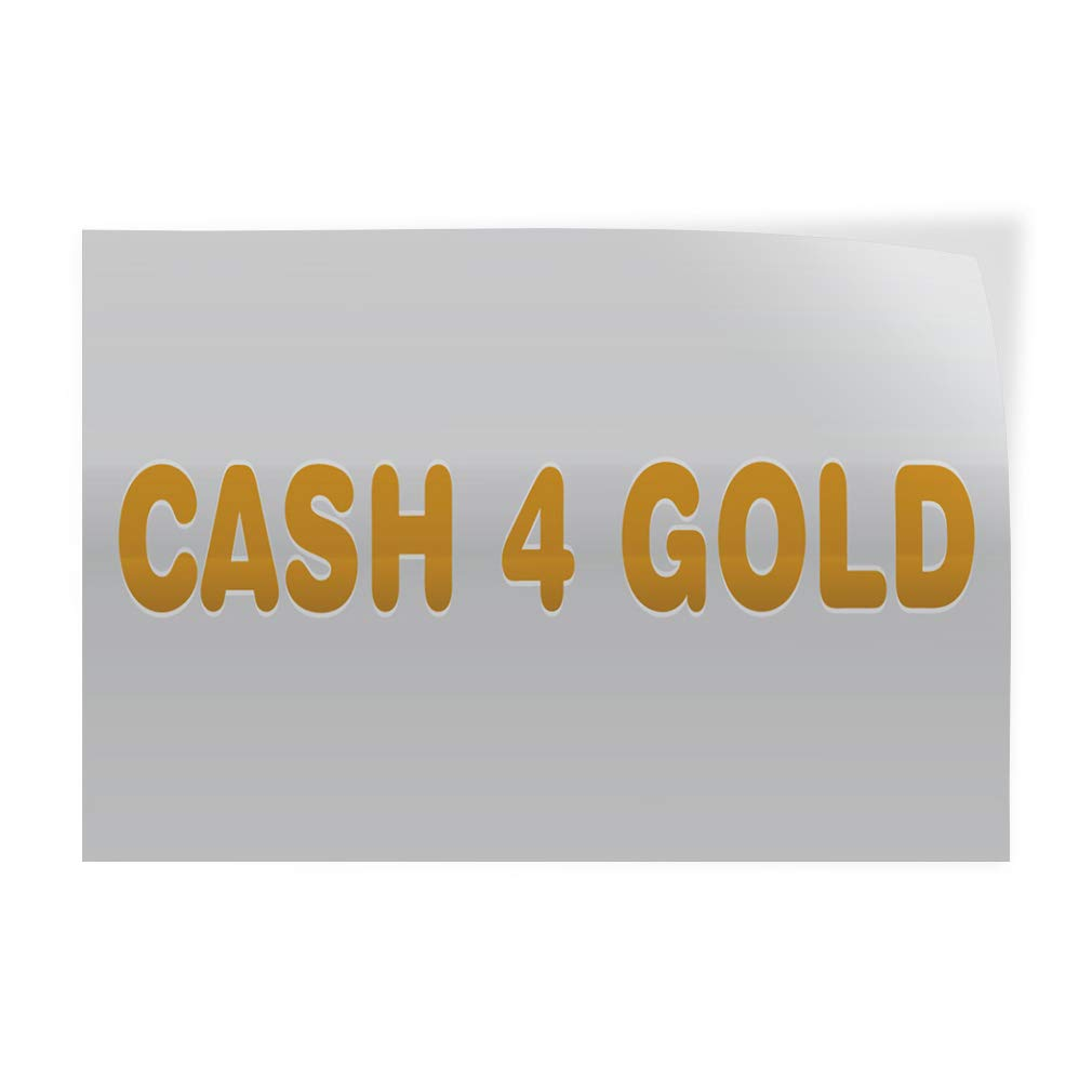 Decal Sticker Multiple Sizes Cash for Gold Business Business Cash Outdoor Store Sign Yellow 14inx10in Set of 10